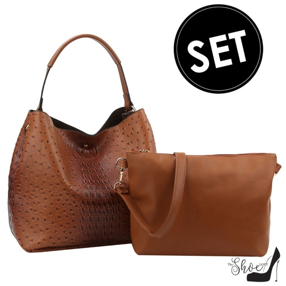 My Bag Lady Online Handbags - Ostrich & Alligator Bucket Bag & Crossbody Set